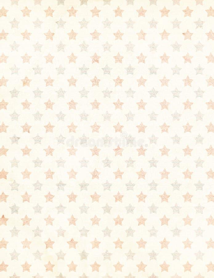 破旧的别致的星形背景 免版税库存图片