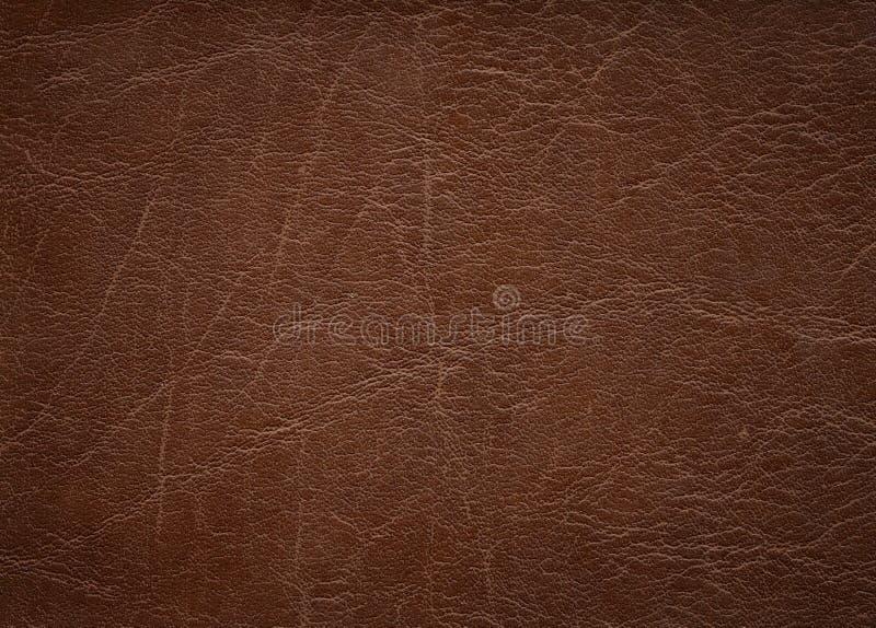 破旧的皮革背景 免版税库存图片