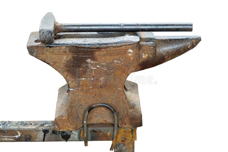 破旧的铁砧 免版税库存照片