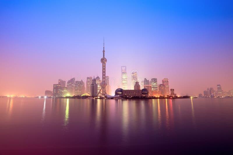 破晓上海 免版税库存图片
