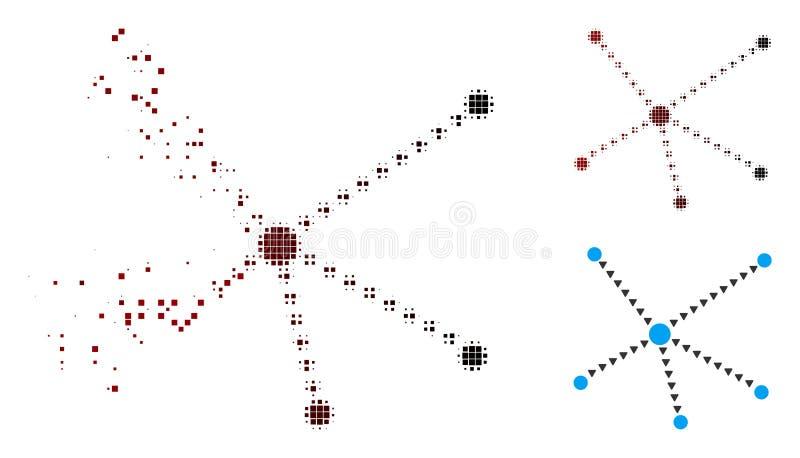 破碎的映象点中间影调被加点的联系象 皇族释放例证