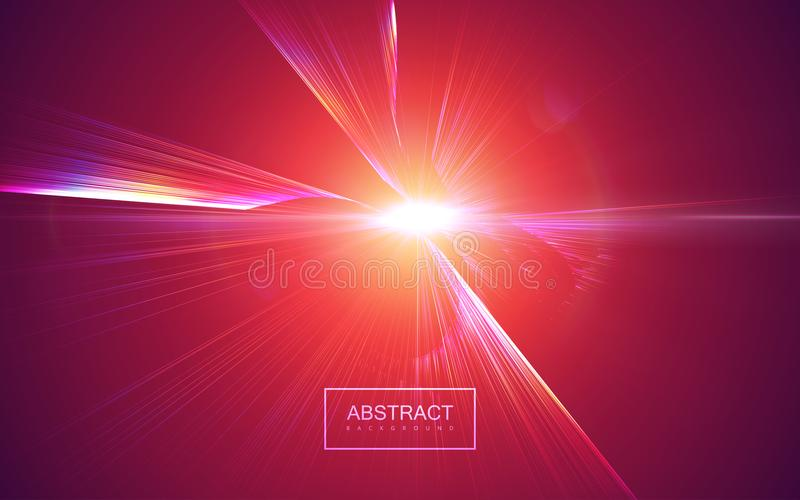 破裂光芒的辐形 向量例证