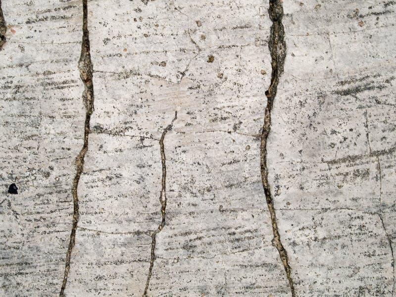 破裂宏观的纹理-混凝土- 免版税库存照片