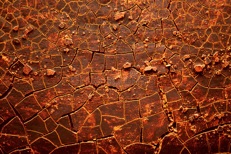 破裂的地球热红色 免版税库存图片