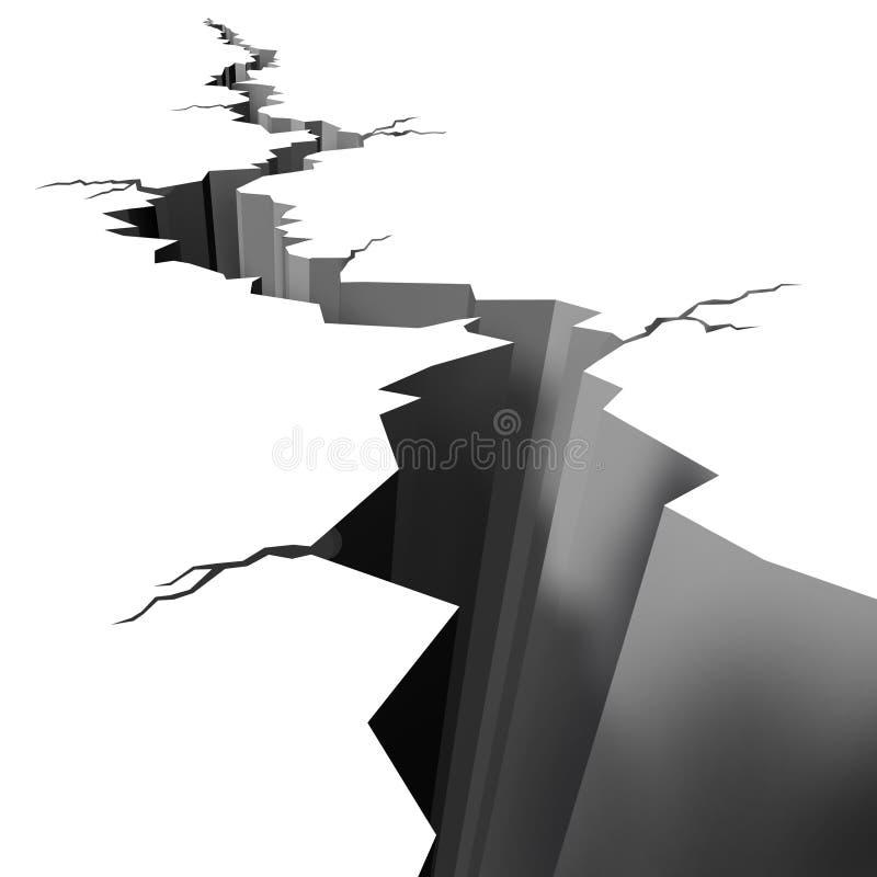 破裂的地震楼层陆运 皇族释放例证