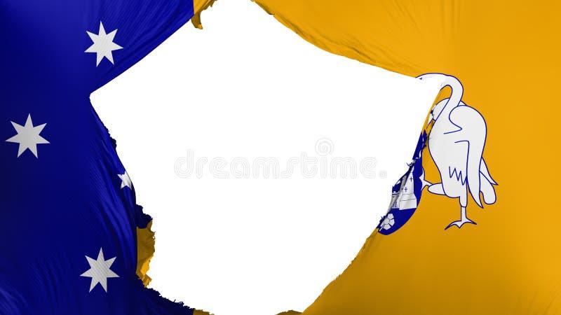 破裂的堪培拉旗子 皇族释放例证