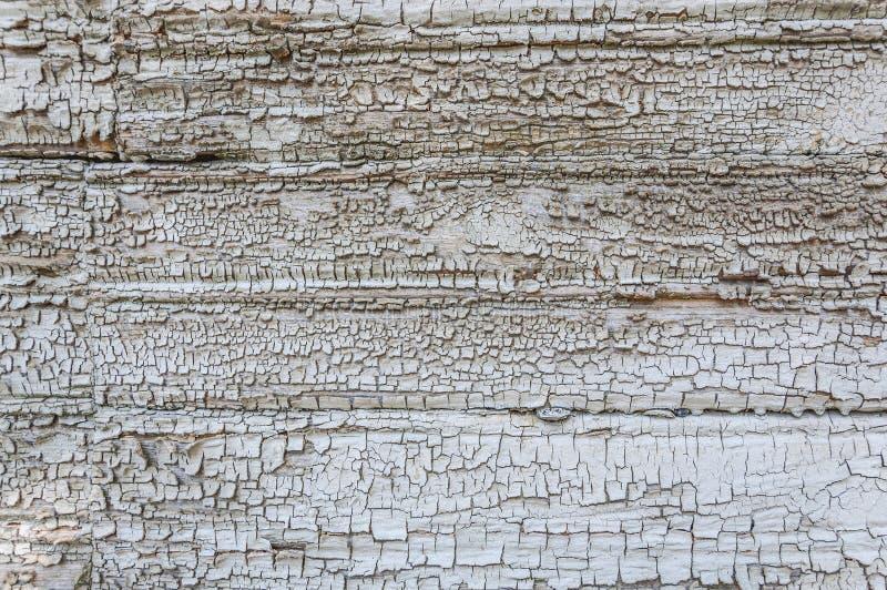 破裂的年迈的木表面灰色白色绘了木板条纹理背景背景 图库摄影