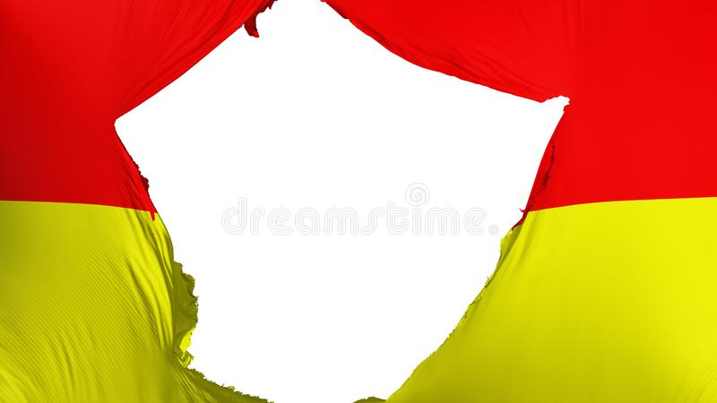 破裂的比勒陀利亚市旗子 库存例证