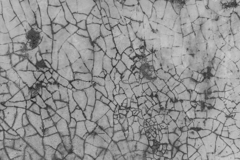 破裂的水泥墙壁顶楼样式 免版税库存图片