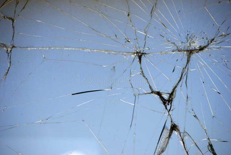 破裂的玻璃 库存照片