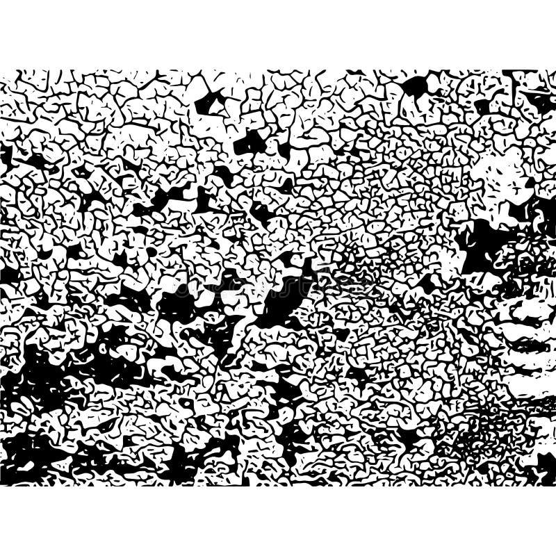 破裂的纹理 镇压和抓痕 向量grunge例证 向量例证