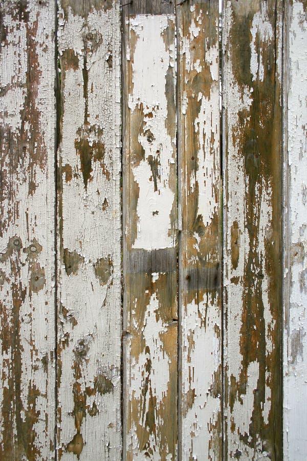 破裂的老被绘的木头 库存图片