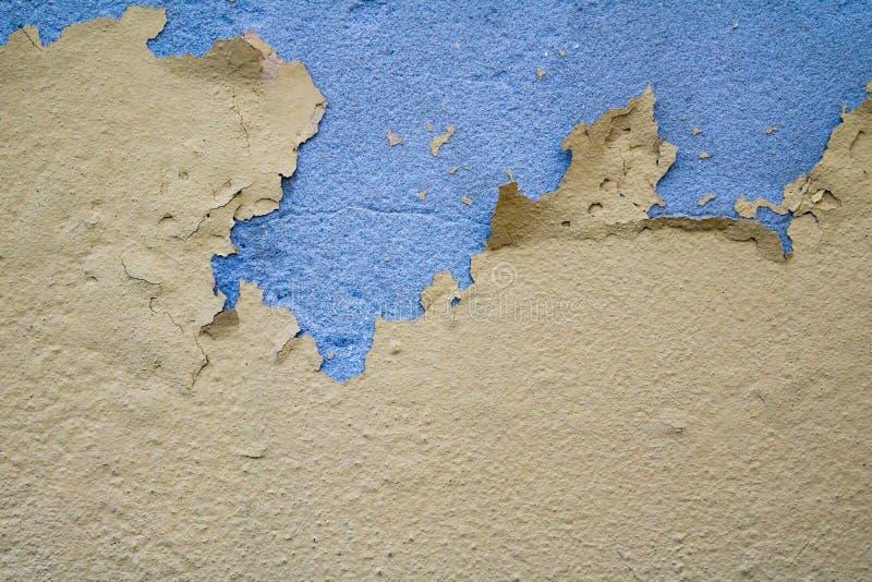 破裂的被绘的墙壁表面纹理 库存照片