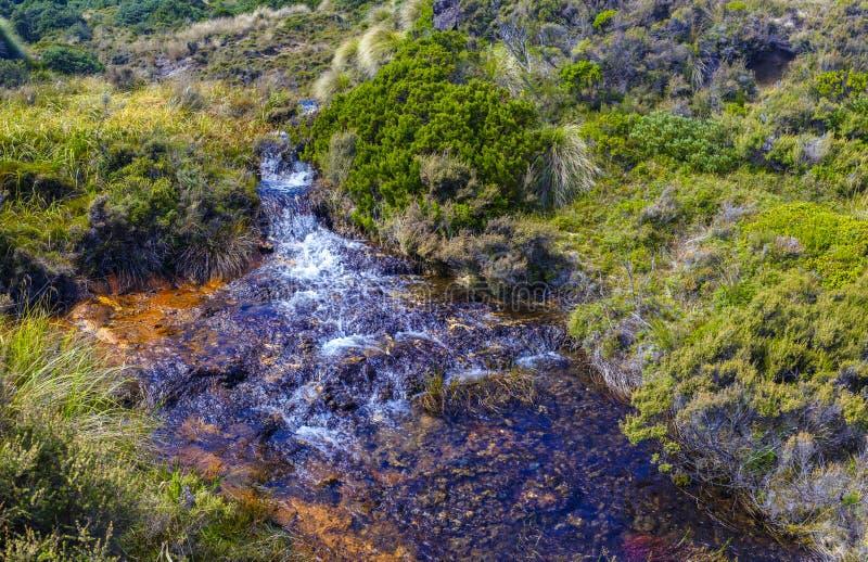 硅土急流在东格里罗国家公园 免版税库存照片