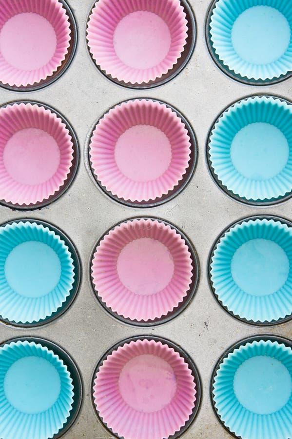 硅杯子蛋糕模子 库存图片
