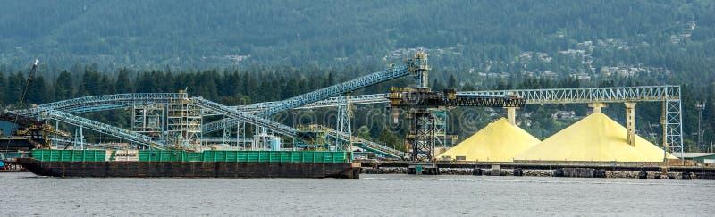 硫磺产业温哥华加拿大 库存图片