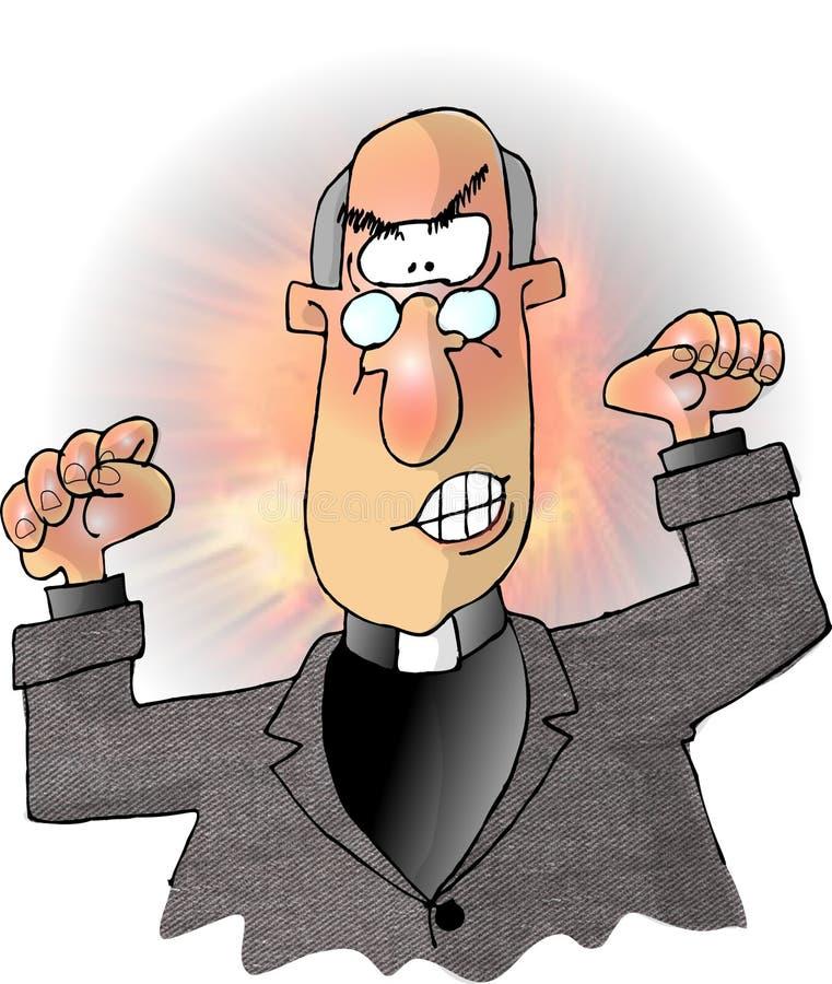 Download 硫磺火 库存例证. 插画 包括有 牧师, 幽默, 滑稽, 传教者, 叫喊, 乐趣, 动画片, padre, 动物 - 55919