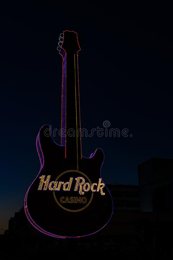 硬岩吉他 库存图片