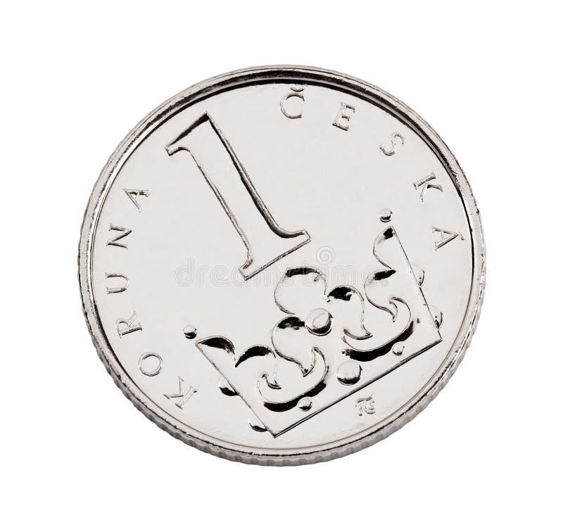 硬币冠捷克一 免版税库存照片