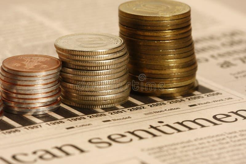 硬币图形股票 库存图片
