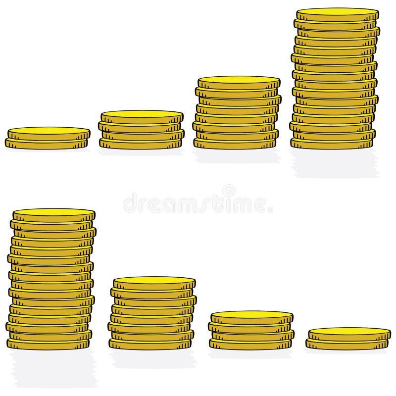硬币图形 皇族释放例证