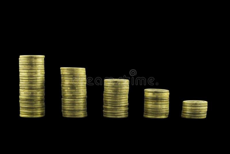 硬币图表图 免版税图库摄影