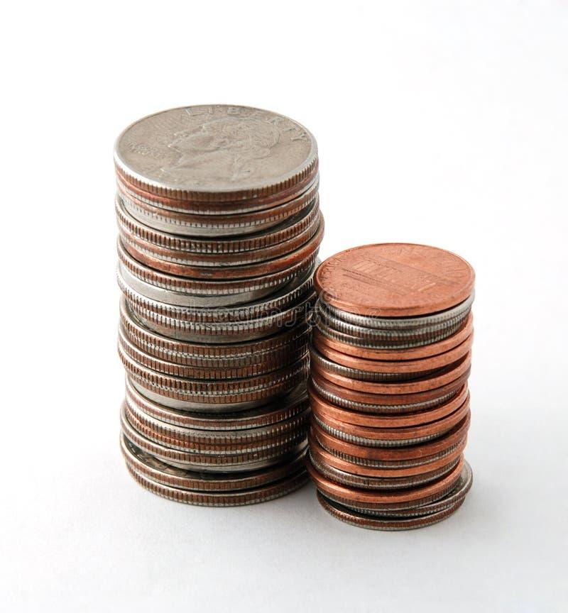 硬币堆二 免版税库存图片