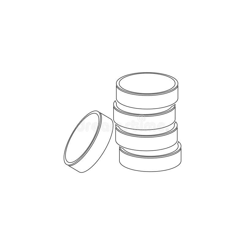 硬币堆 金钱被堆积的硬币 平的传染媒介象 库存例证
