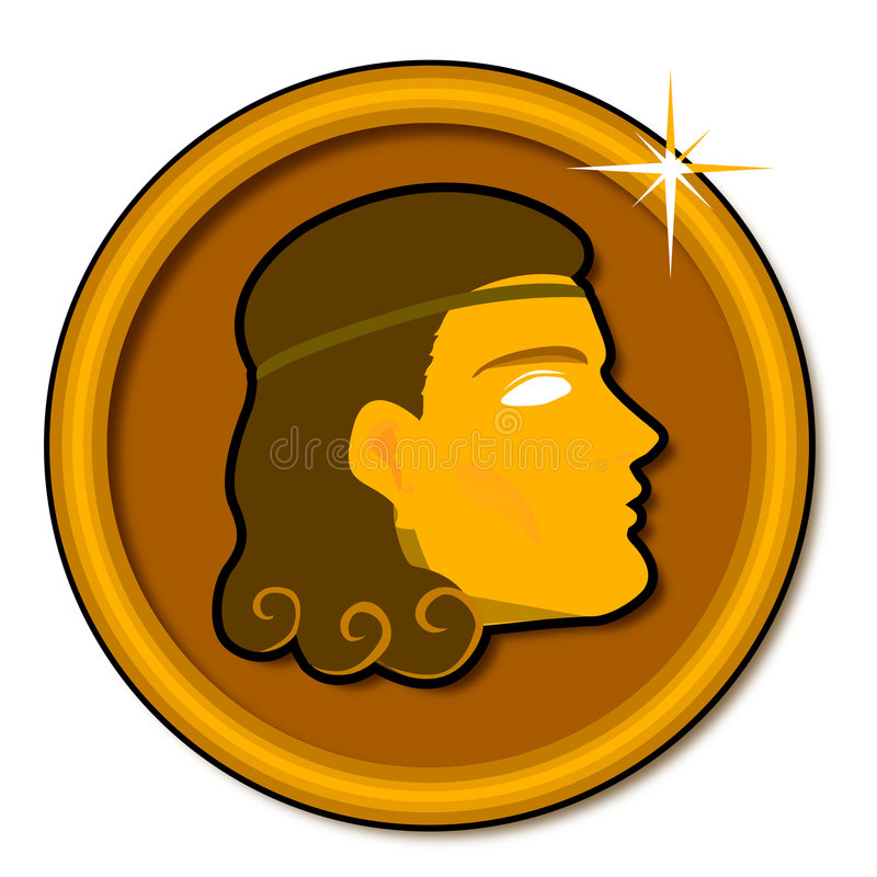 硬币希腊 免版税库存照片