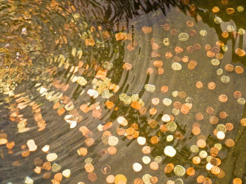 硬币庭院池 库存图片