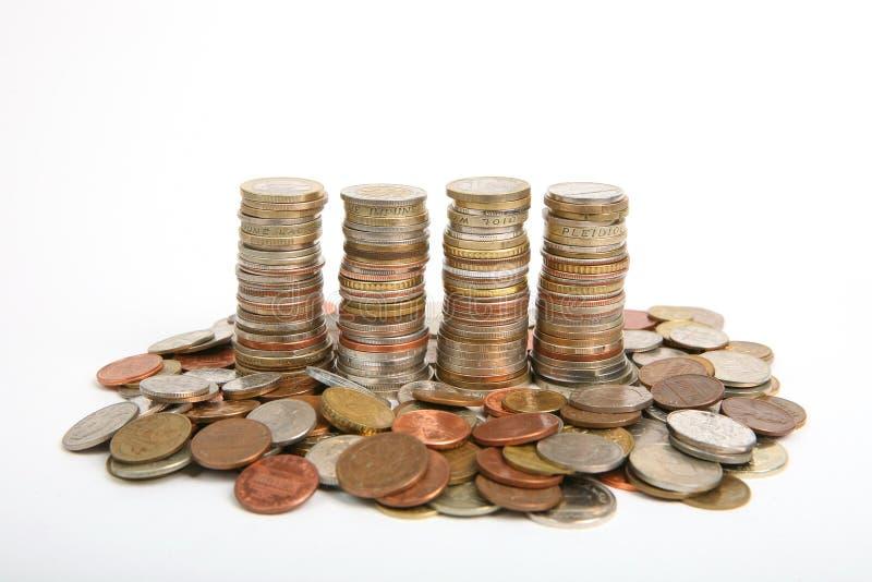 硬币批次 免版税图库摄影