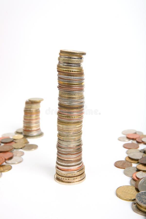硬币批次 免版税库存照片