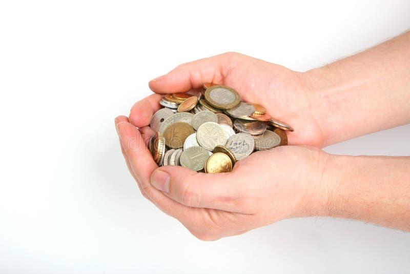 硬币批次 库存照片
