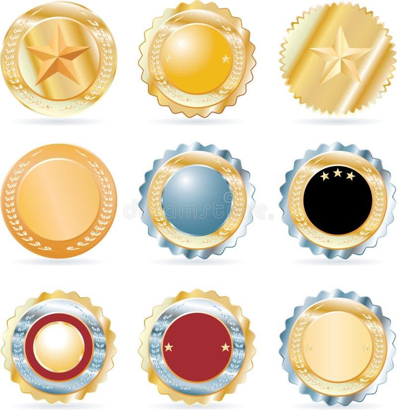 硬币收集九 库存例证