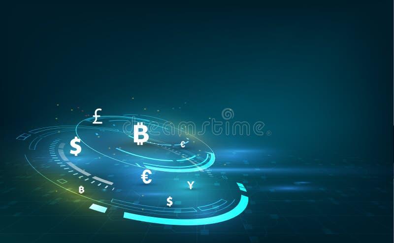 硬币查出的货币汇款栈调用白色 全球的货币 证券交易所 设计例证股票您使用的向量 向量例证