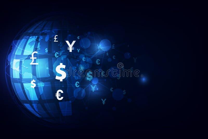 硬币查出的货币汇款栈调用白色 全球的货币 证券交易所 设计例证股票您使用的向量 皇族释放例证