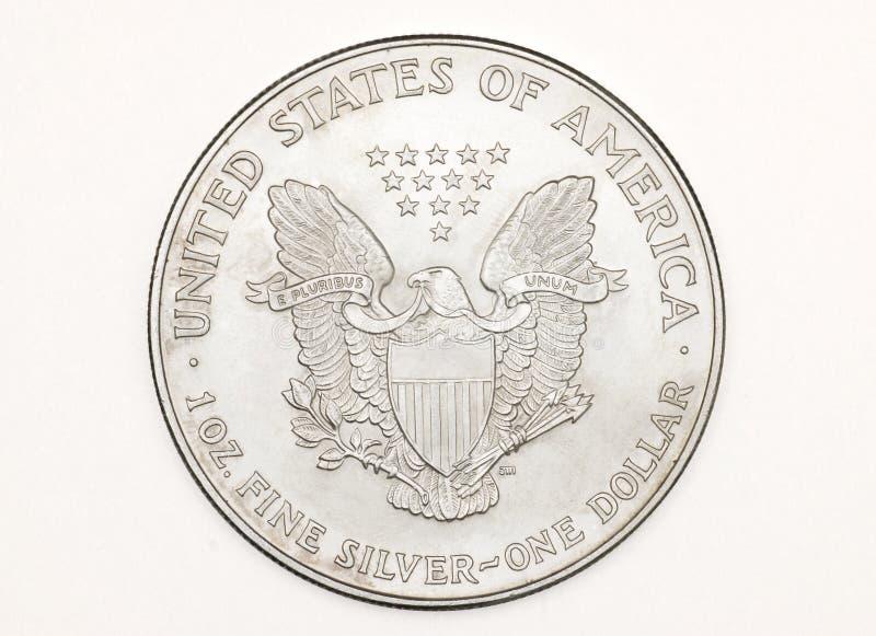 硬币查出的银 图库摄影