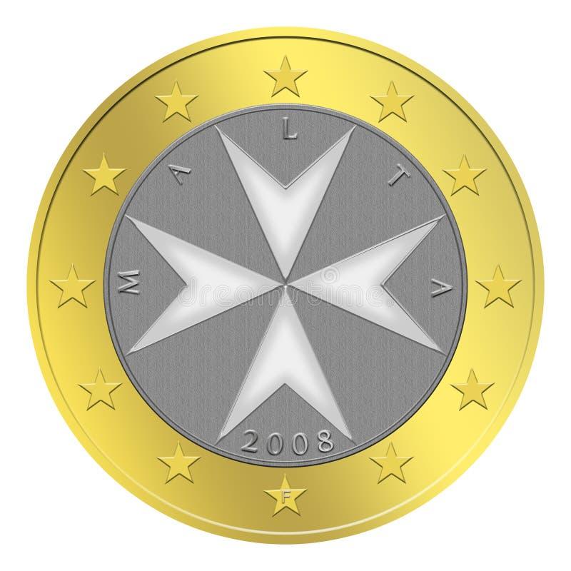 硬币欧洲马尔他 向量例证