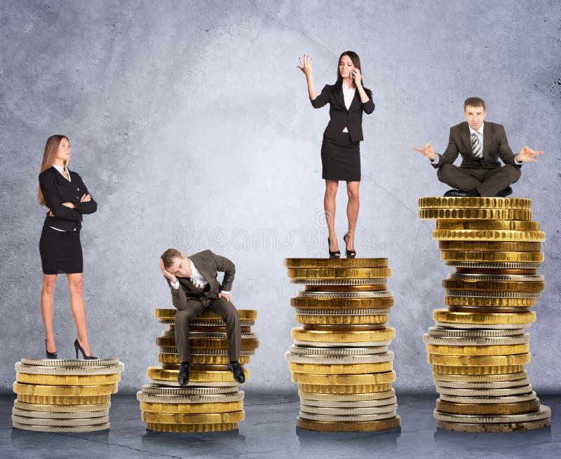 硬币的商人 免版税图库摄影