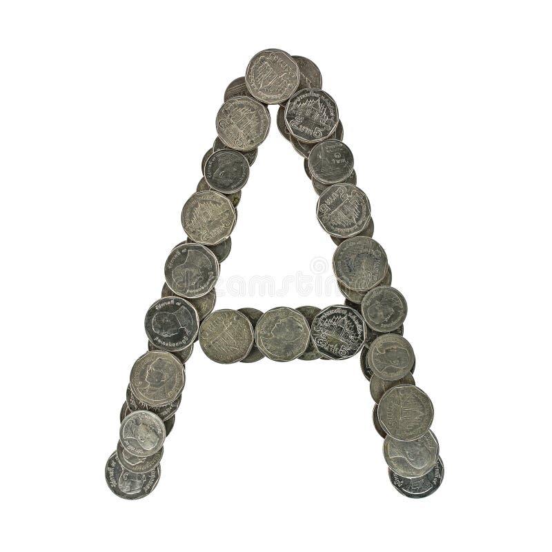 从硬币的字母表 库存例证