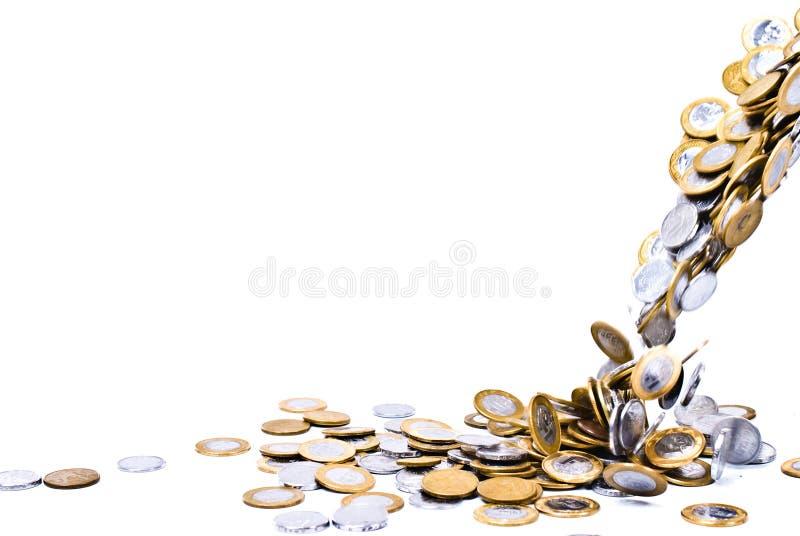 硬币秋天 库存照片