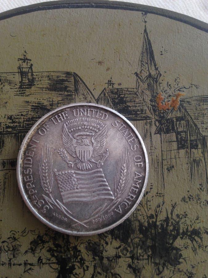 硬币约翰・肯尼迪 库存图片