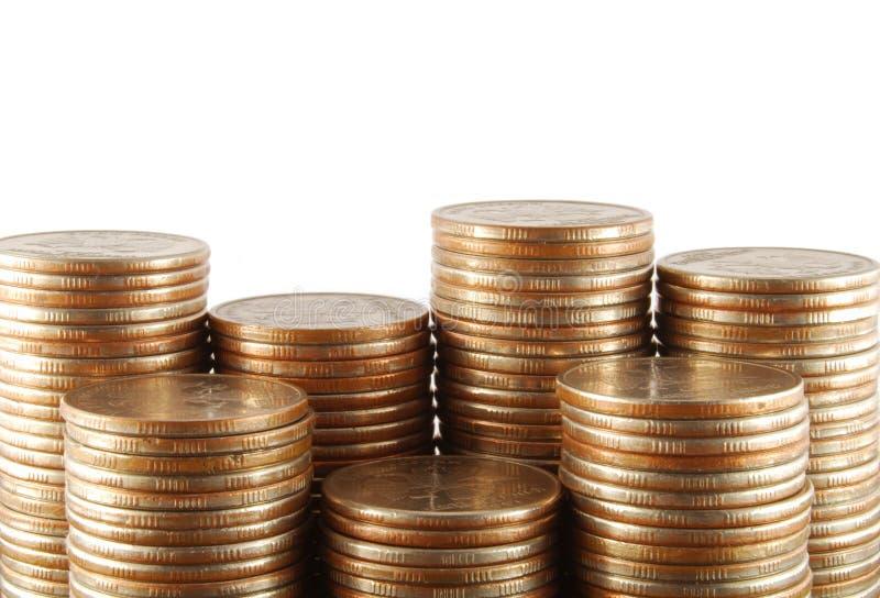硬币组 图库摄影