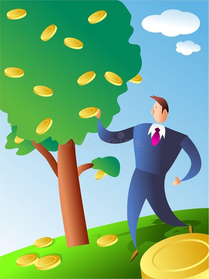 硬币结构树 皇族释放例证