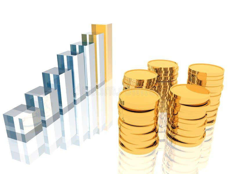 硬币绘制 向量例证