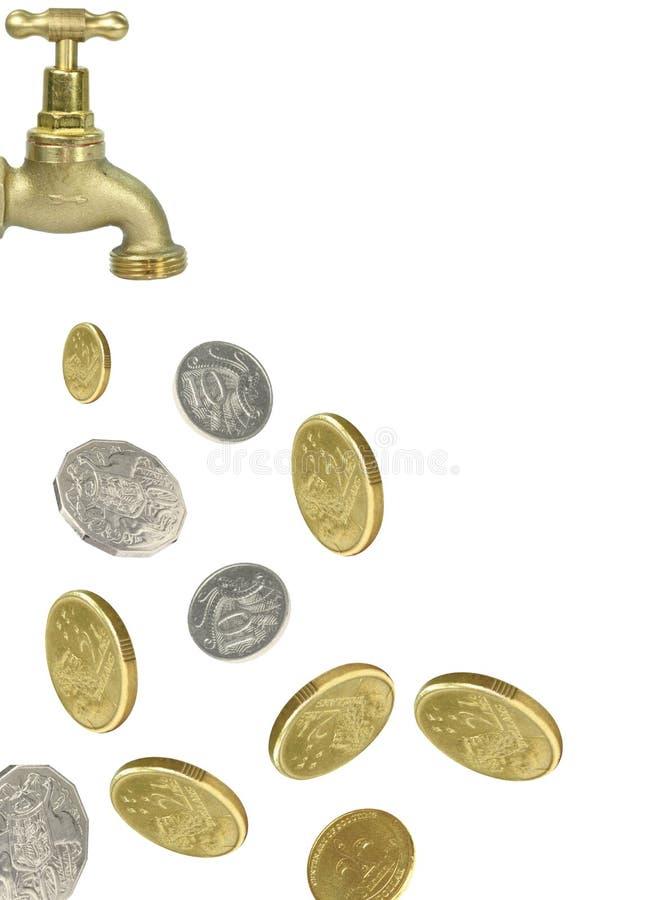 硬币货币轻拍 免版税库存图片