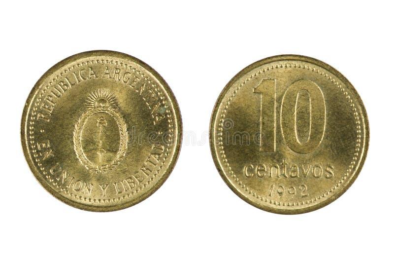硬币阿根廷 免版税库存图片