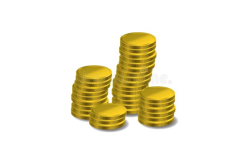 硬币 库存例证