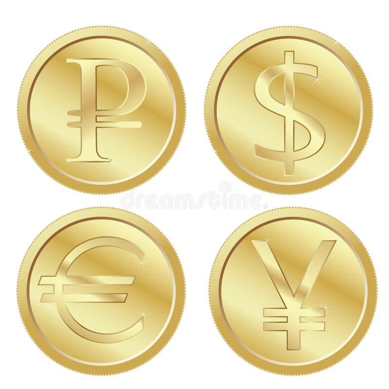 硬币 皇族释放例证