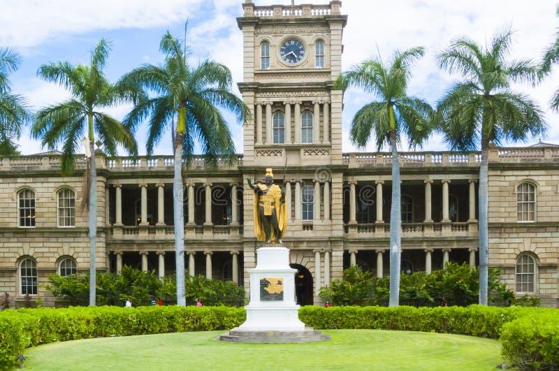 硬朗的Aliiolani,夏威夷` s状态最高法院大厦 图库摄影